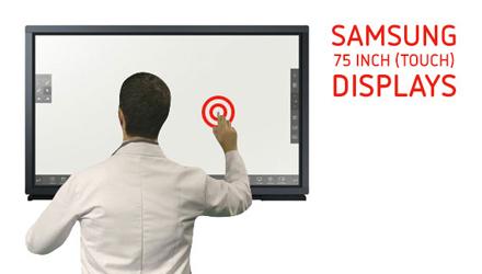 Diverse Samsung 75 inch (touch) displays zeer scherp geprijsd
